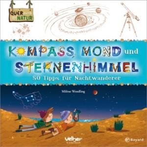 Kompass, Mond und Sternenhimmel