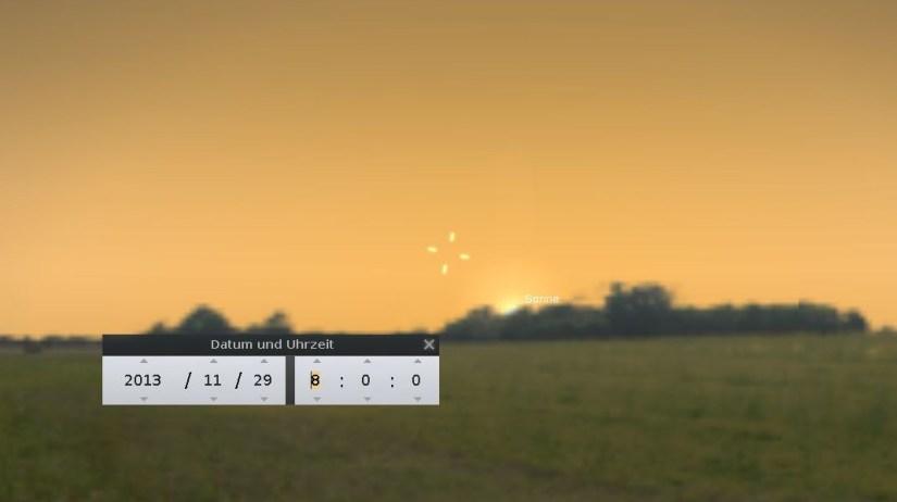 ISON Position am 29.11. kurz nach Sonnenaufgang