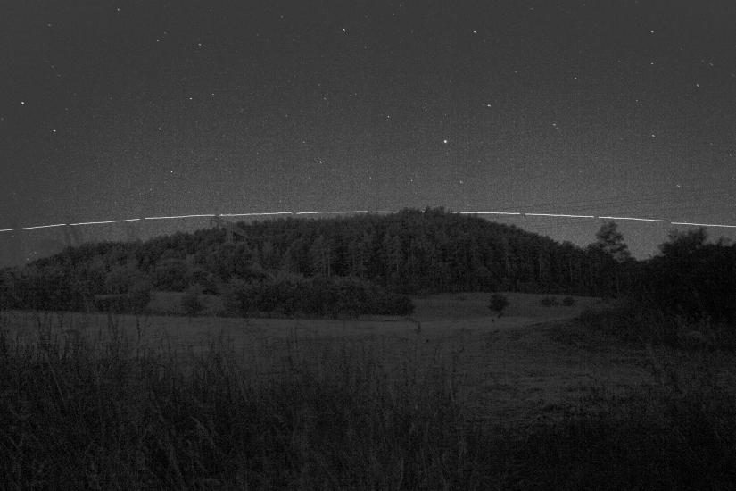 ISS am 17.6.2014 (Canon 600D, 10 Aufnahmen á 15s, ISO400)