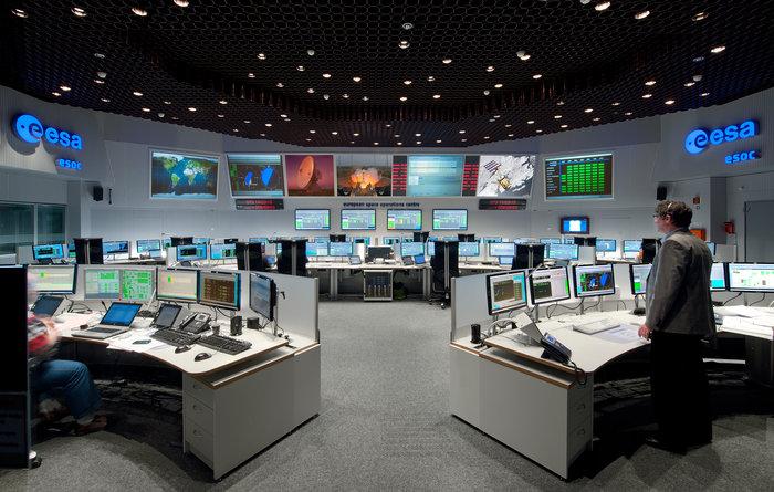 ESOC Kontrollraum (Bild der esa)