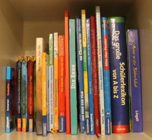 Regalfach mit verschiedensten Kinderbüchern
