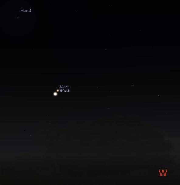 Westhimmel am 21.2. gegen 18:15 Uhr