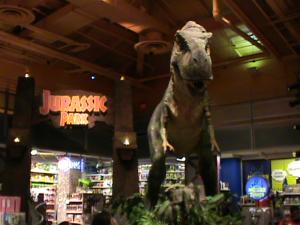 Dinosaurier im Toy r Us Geschäft