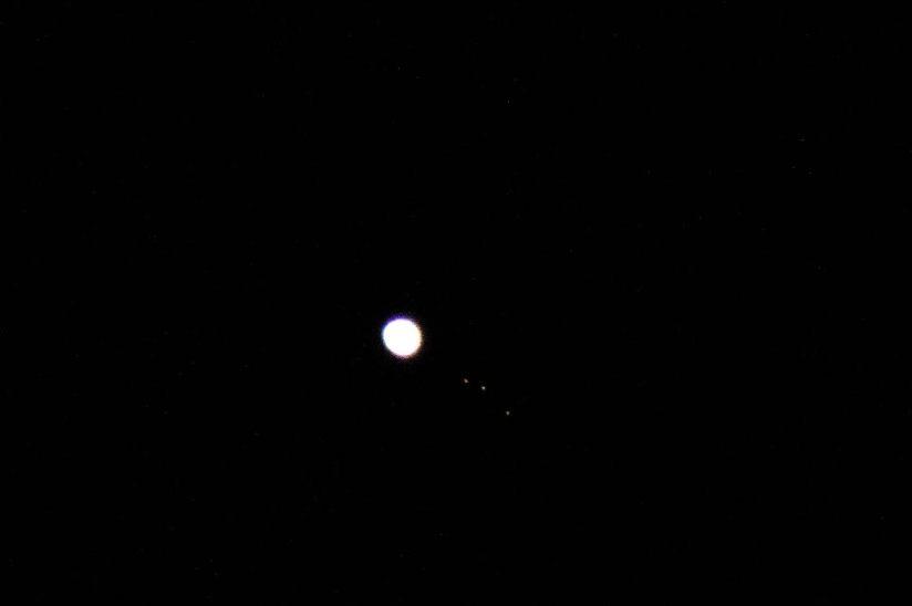 Jupiter mit 3 Monden (aufgenommen von autopict)