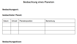 planetenbeobachtung