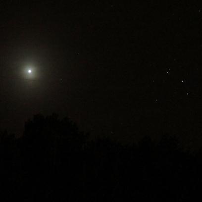Venus bei den Plejaden am 13.04.2015