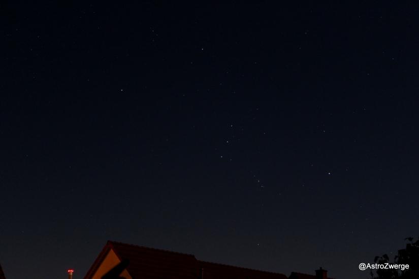 Orion am Südosthimmel gegen 2 Uhr