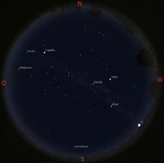 Abendhimmel am 15.11.2015 gegen 19 Uhr