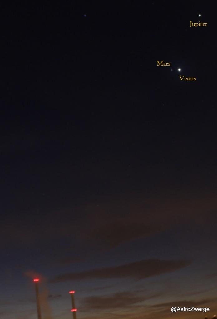 Jupiter-Venus-Mars am 2.11.2015