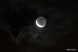 Mond mit zwei Sternen (HIP 60924 & HIP 60806)
