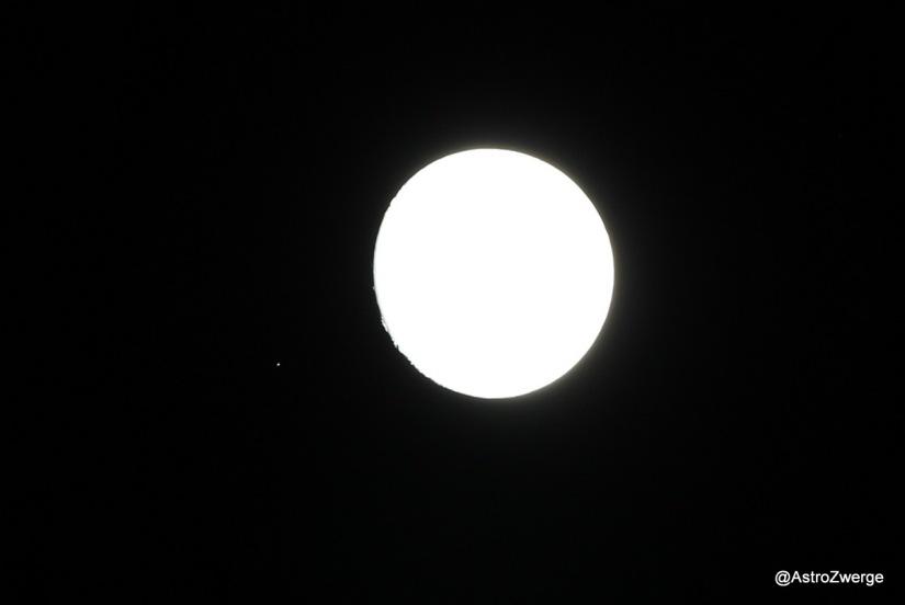 Aldebaran 1/2 Stunde vor der Bedeckung durch den Mond