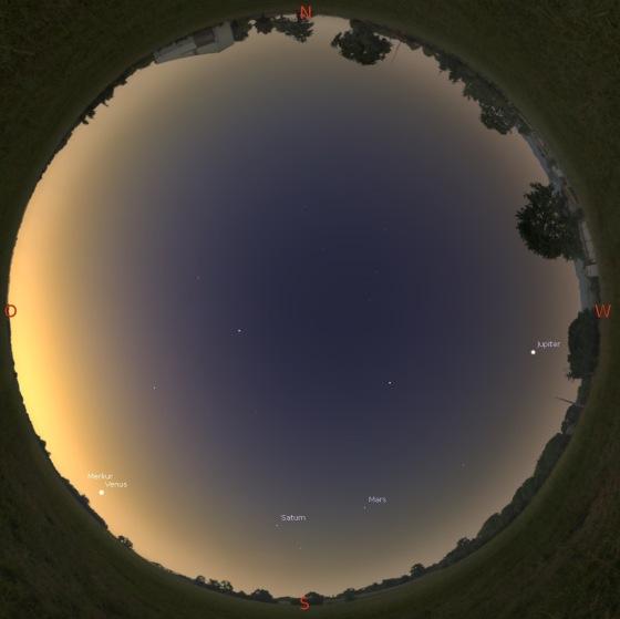 Morgenhimmel am 15.02.2016 gegen 7 Uhr