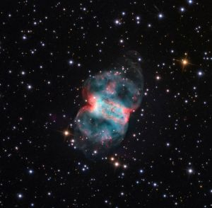 M76 Von Credit Line and Copyright Adam Block/Mount Lemmon SkyCenter/University of Arizona - http://www.caelumobservatory.com/gallery/m76.shtml, CC BY-SA 3.0 us, $3