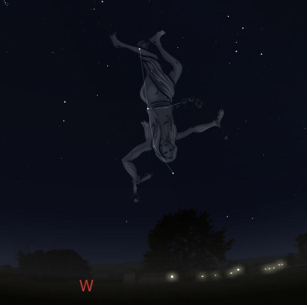 Sternbild Andromeda Anfang Februar
