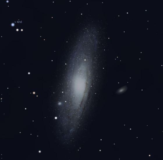 Andromedagalaxie (Abb. aus Stellarium)