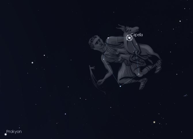 Sternbild Fuhrmann (Abb. Stellarium)