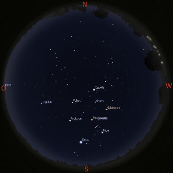 Morgenhimmel am 15.03.2016 gegen 6 Uhr
