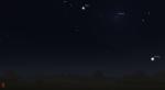 Mars, Mond und Venus am 4.12. gegen 18 Uhr am Abendhimmel