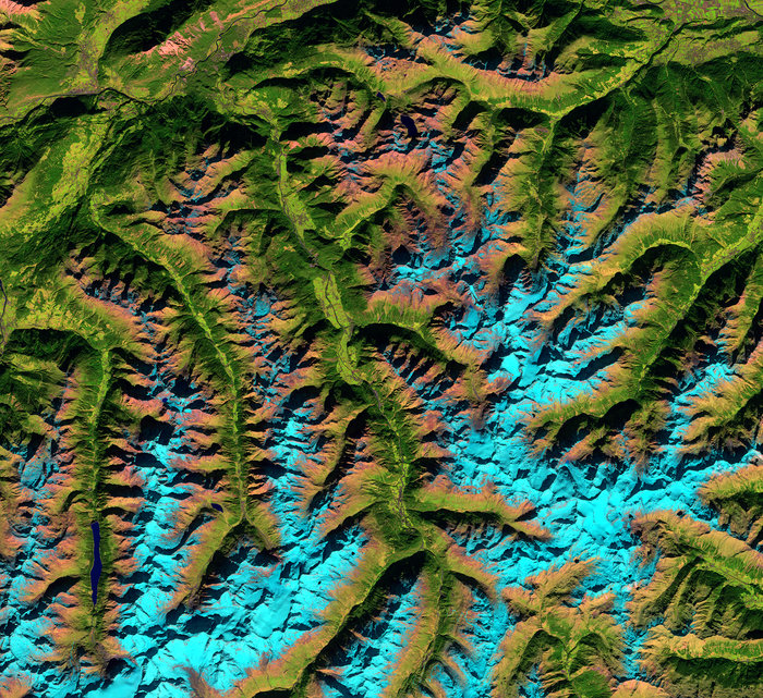 Alpen: Ötztal (modified Copernicus Sentinel data (2016), processed by ESA)