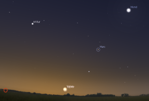 Venus bei Jupiter am Morgenhimmel (13.11.)