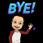 """mein Bitmoji winkt """"Bye"""""""