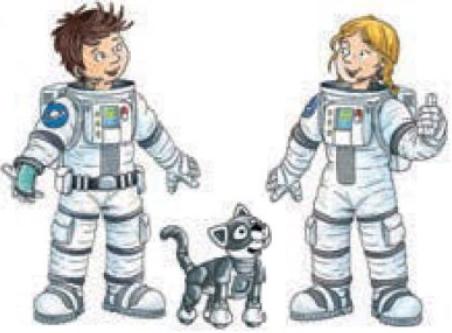 Zeichnungen von Tom, Stella und Plutinchen