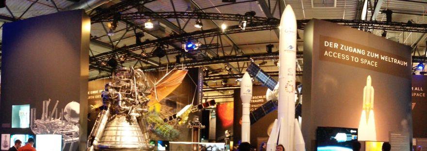 Panoramaaufnahme im Space Pavillon auf der ILA in Berlin