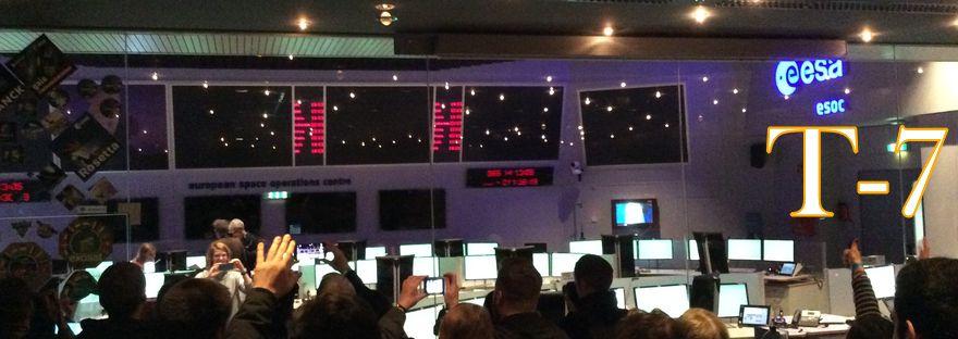 Blick in den Hauptkontrollraum der ESOC