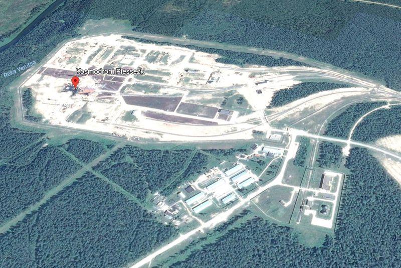 Google Earth Abbildung des Kosmodrom Plessezk - Startpunkt von Sentinel-3