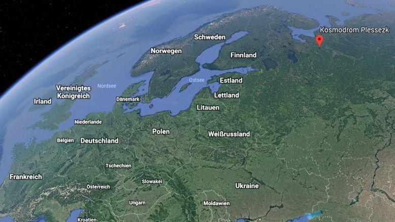 Google Earth Ausschnitt mit Deutschland & Plessezk