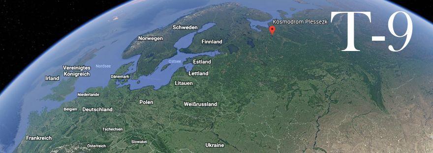 Google Earth Darstellung der Lage von Plessezk