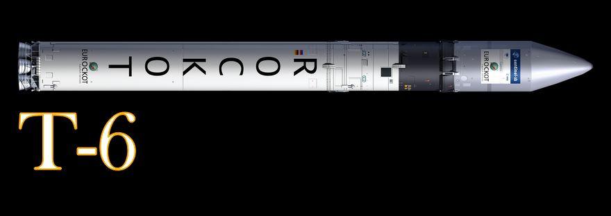 Darstellung der ROCKOT Rakete (esa)