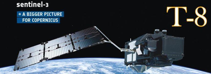 Darstellung des Sentinel-3 Satelliten