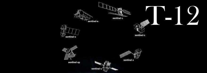 schematische Darstellung alle Sentinel Satelliten