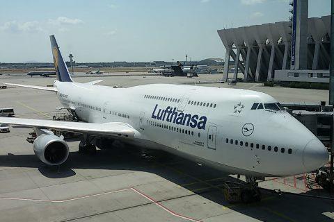 Boing 747 am Frankfurter Flughafen