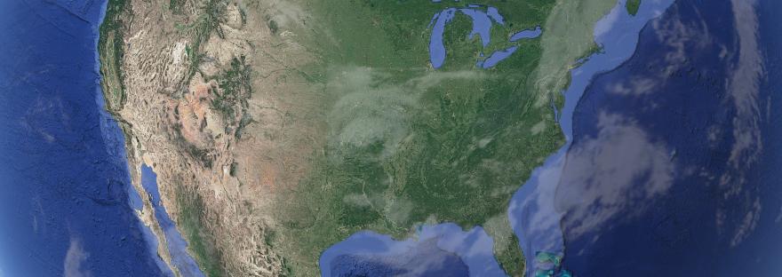 Google-Maps Satelitenbild der USA