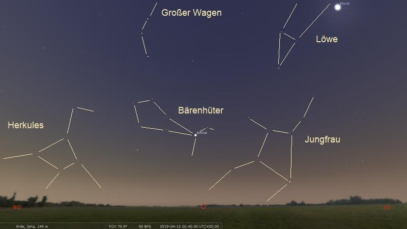 Stellariumsgrafik mit Sternbildern