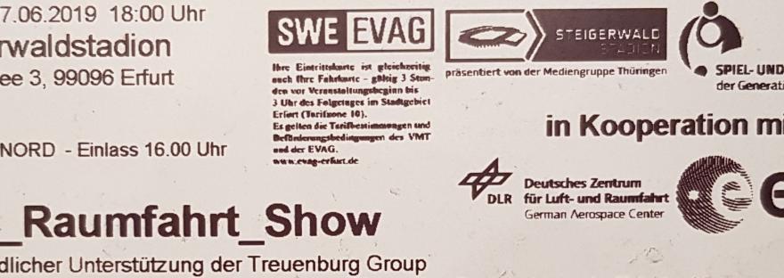 Ticket zur Raumfahrtshow