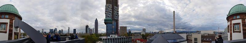 Panoramaaufnahme über Frankfurt