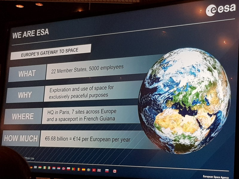 "Präsentation: ""We are ESA"""