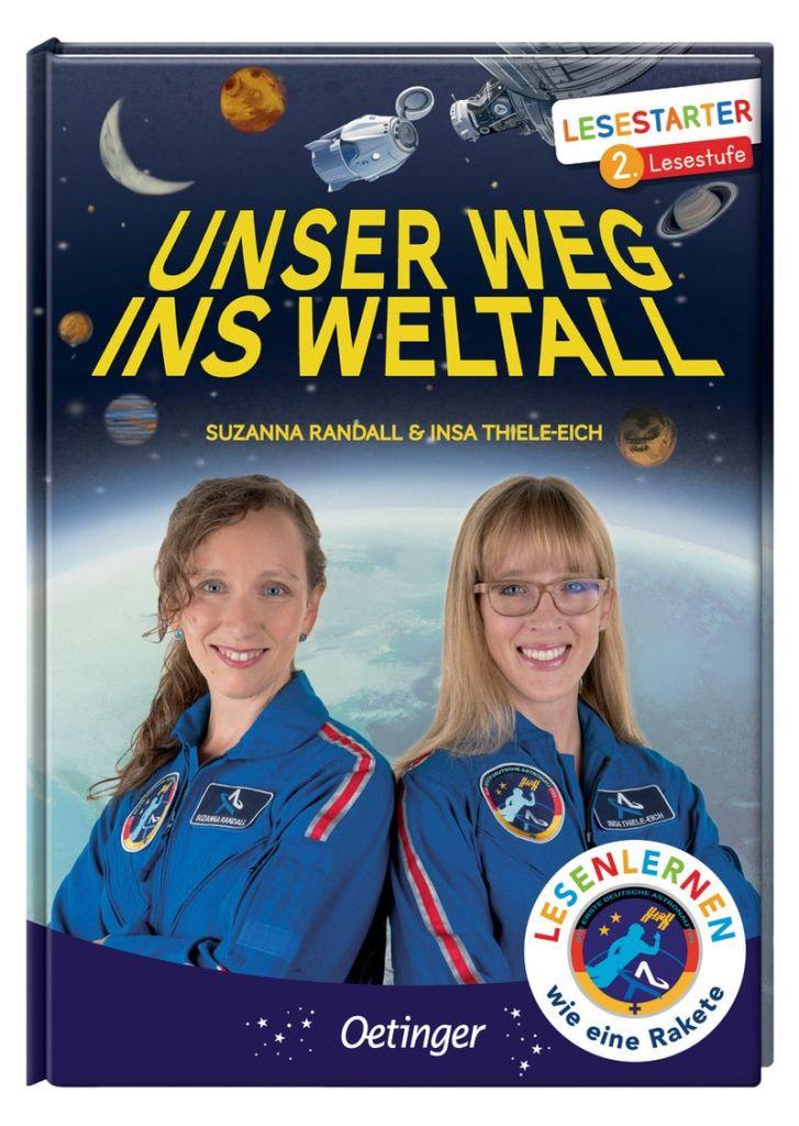 Cover des Buches mit Insa und Suzanna im Vordergrund und der Erde aus dem All betrachtet im Hintergrund
